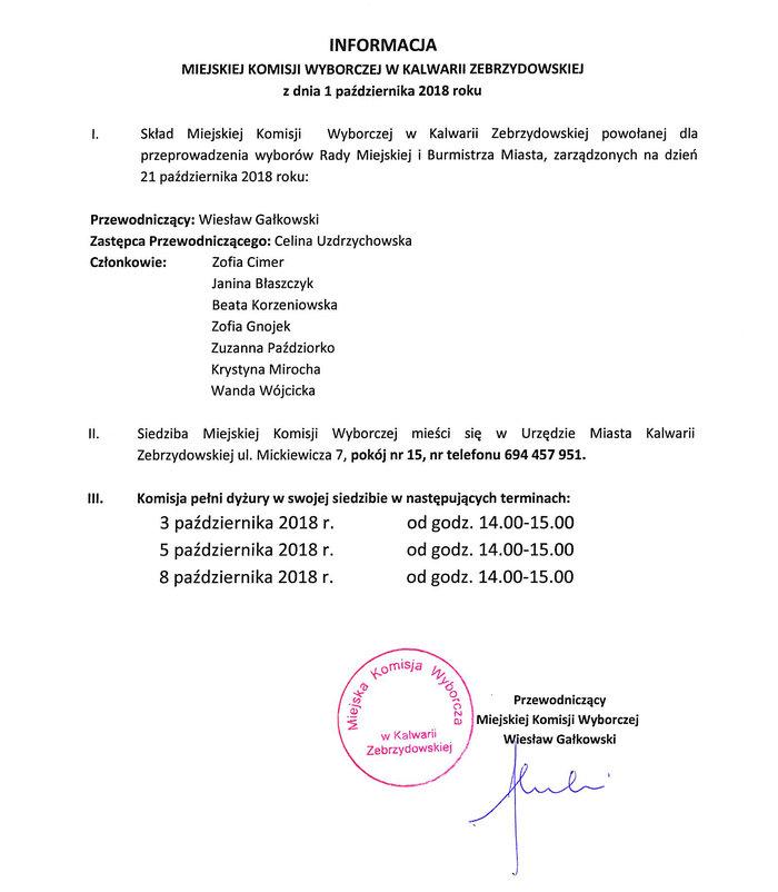 2018 Bip Urząd Miasta Kalwarii Zebrzydowskiej Biuletyn